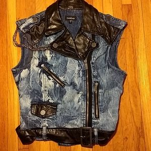 Vintage Bebe Rocker Punk Denim Vest M
